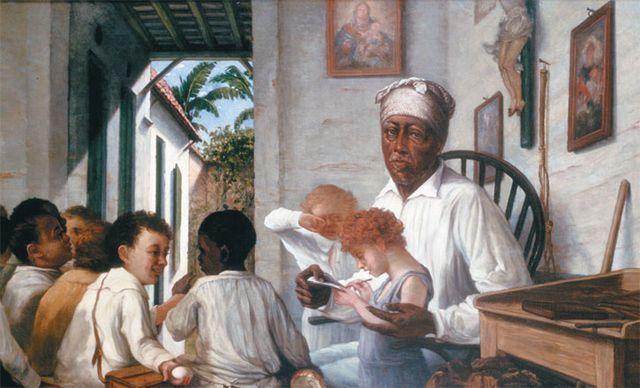 La escuela del maestro Cordero (1890-92), por Francisco Oller