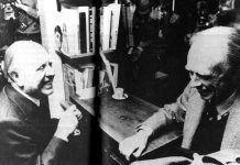 Jorge Luis Borges y Adolfo Bioy Casares en la Librería de la Ciudad, 1979