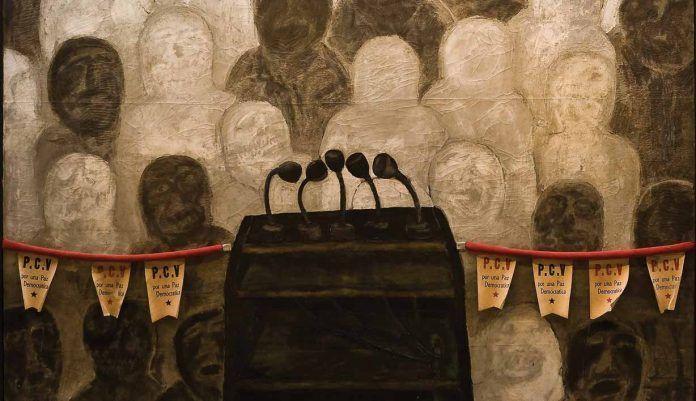 Antonia Eiriz: ʻUna tribuna para la paz democrática' (detalle), 1968