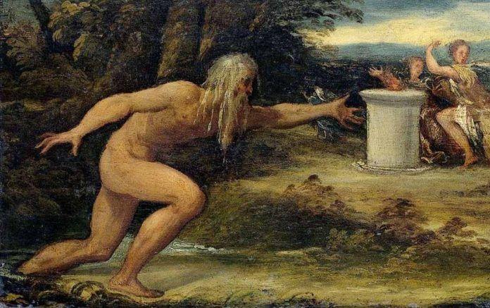 'Nessus and Deianira' (detalle), Lambert Sustris, 1540-1560
