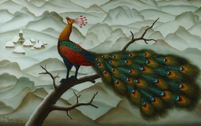 'Peacock', Ivan Generalić, 1973