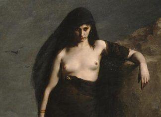 'Sappho' (detalle), Charles Mengin, 1877