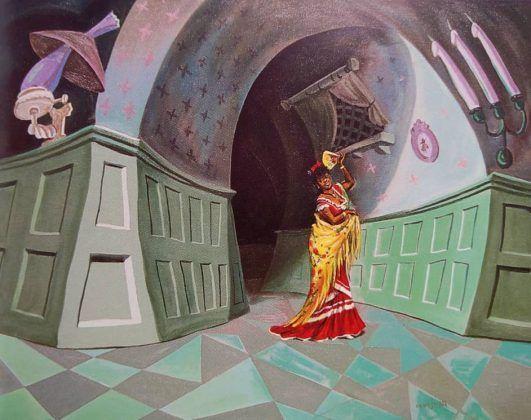 Cecilia Valdés en Wonderland' 1999 óleo osbre tela   Rialta