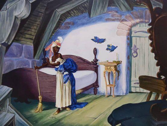 Cinderellas maid' 1999 óleo sobre tela   Rialta