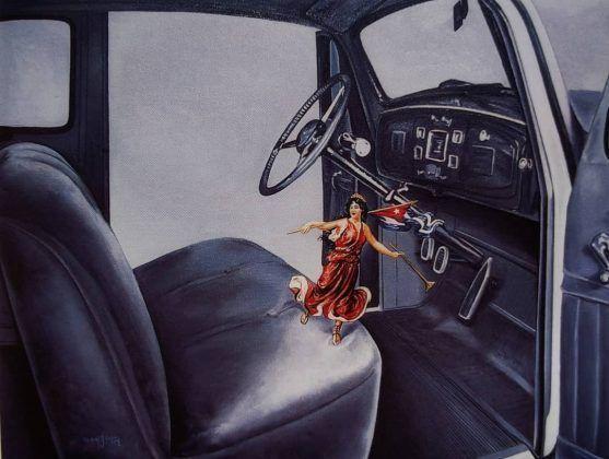 El telegrama' 1999 óleo sobre tela | Rialta