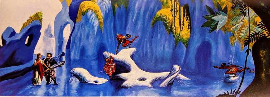 Folklore homenaje a Öyvind Fahlström' 1999 óleo sobre tela   Rialta