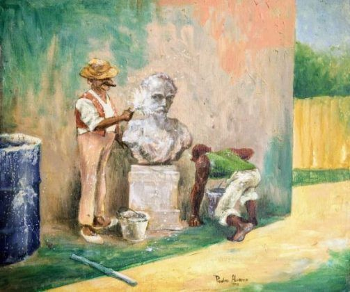 Homenaje a Rafael Blanco' 1995 óleo sobre tela | Rialta