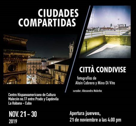 Cartel promocional Ciudades compartidas | Rialta