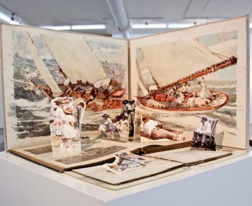 Diorama no. 1 Old book 2017 de la serie Our Islands and Their People Scketches Notebook   Rialta
