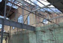 Ruinas del taller de Línea y 18 en La Habana fotograma del video del proyecto 'Montañas con una esquina rota' 2015   Rialta