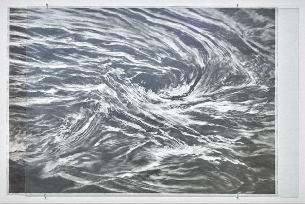 Fogli d'acqua e d'assenzio Serse 2019 2020 grafito en papel sobre aluminio 72 x 103 cm Foto Néstor Kim | Rialta