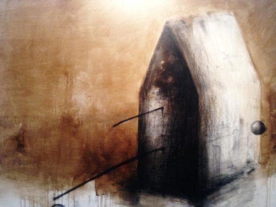 Iconnographic' Octavio Irving 2020 asfalto y carboncillo sobre lienzo 145 x 135 cm | Rialta