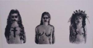 Nunca me abandonan' Marta María Pérez Bravo 2001 lienzografía 152 x 89 cm | Rialta