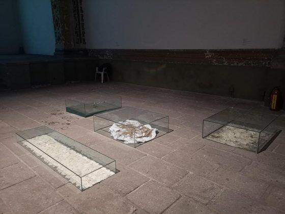 Pecados peticiones lágrimas deseos' 2019. Vista interior de la exposición en el museo Ex Teresa Arte Actual | Rialta