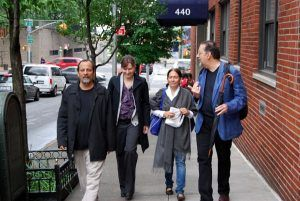 Juan Carlos Flores Kristin Dykstra Reina María Rodríguez y Rolando Sánchez Mejías en New York mayo de 2011 | Rialta
