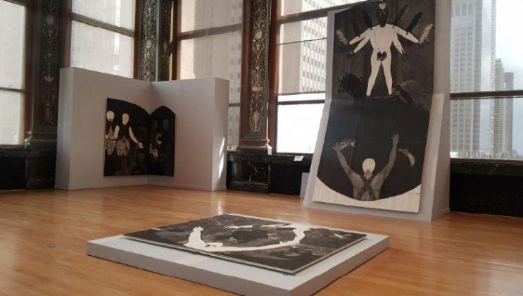 Vista de la exposición 'Nkame' de Belkis Ayón en el Chicago Cultural Center3 | Rialta