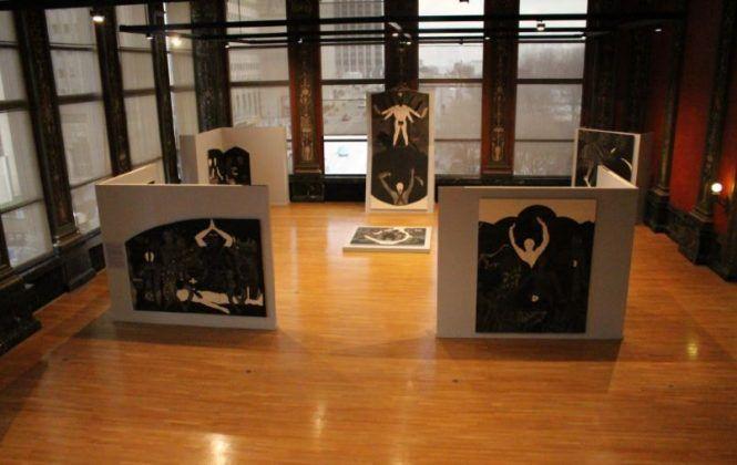 Vista de la exposición 'Nkame' de Belkis Ayón en el Chicago Cultural Center8 | Rialta