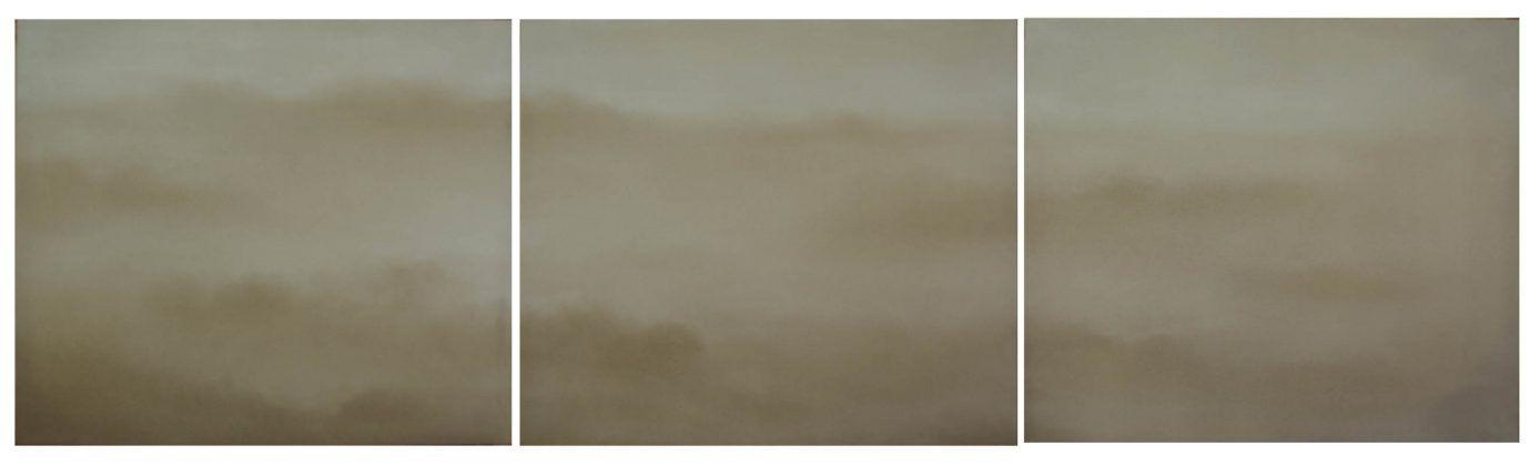 Trilogía de la niebla I' 2011 gesso sobre lino 1 | Rialta