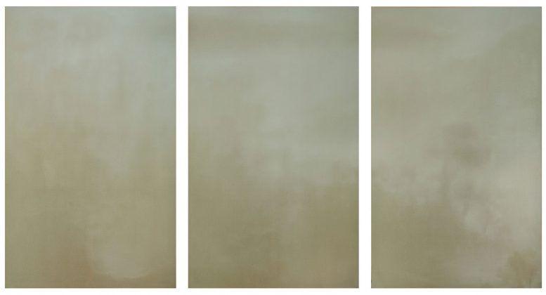 Trilogía de la niebla I' 2011 gesso sobre lino | Rialta