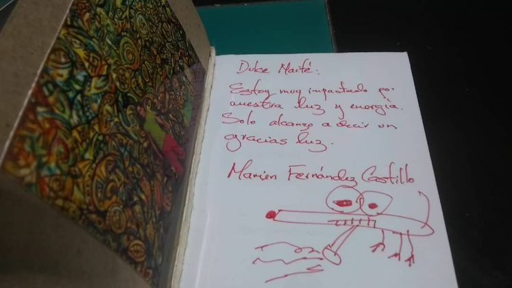Maité Hernández Lorenzo lee 'Penélope aserrando telaviché' 2017 de Marien Fernández 2222 | Rialta