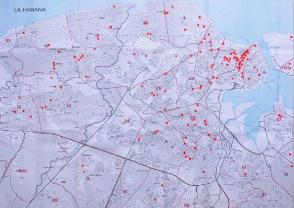 Mapa de los cines de La Habana | Rialta