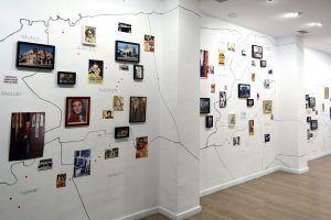 Vista de la exposición 'EXIT. Atlas de los cines habaneros' octubre 2019 en la galería La Empírica Granada España | Rialta