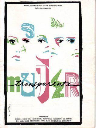 Cartel de Mujer transparente 1990 dir. Héctor Veitía Mayra Segura Mayra Vilasís Mario Crespo y Ana Rodríguez | Rialta