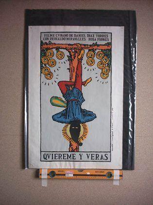 Cartel original de Quiéreme y verás 1995 dir. Daniel Díaz Torres con capucha | Rialta