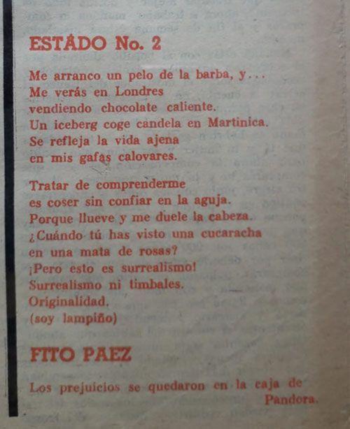 Poemas en la sección Por Primera Vez de El Caimán Barbudo 2 | Rialta