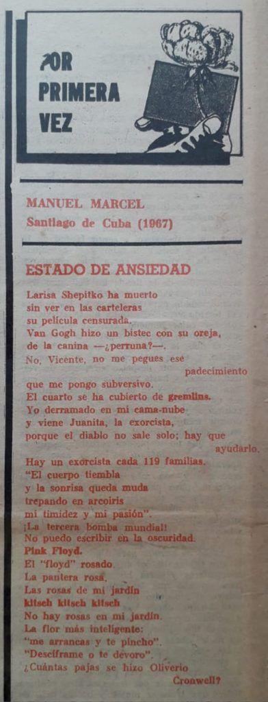 Poemas en la sección Por Primera Vez de El Caimán Barbudo | Rialta