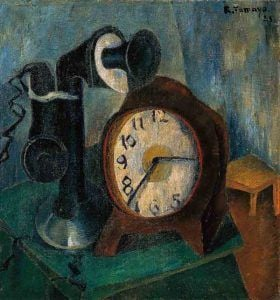 Reloj y teléfono' Rufino Tamayo 1925 | Rialta