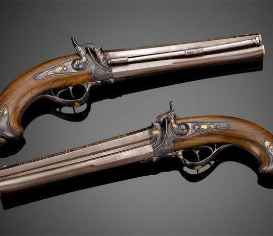 Par de pistolas italianas del siglo XIX FOTO Pinterest   Rialta