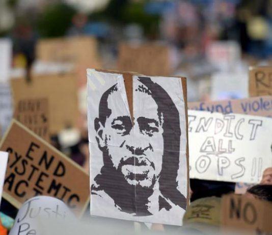Una protesta en respuesta al asesinato de Geroge Floyd FOTO Agustin Paullier   Rialta