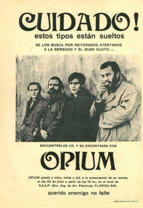Afiche donde aprecen los integrantes del grupo Opium | Rialta