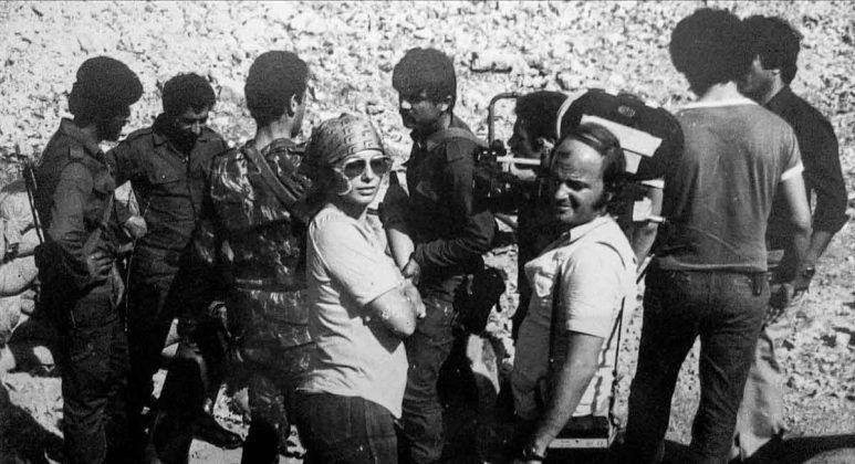 Belkis Vega durante el rodaje de ʽEl Líbano la guerra interminable' 1980 | Rialta