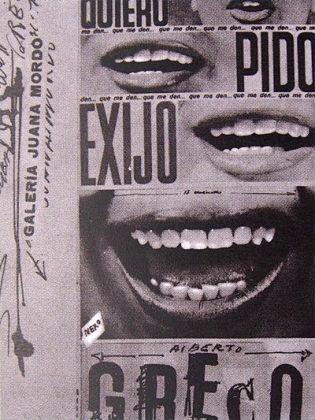 Cartel de una exposición de Alberto Greco | Rialta