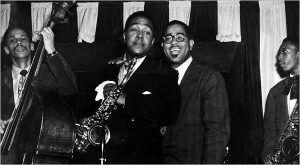 Charlie Parker Dizzy Gillespie centro Tommy Potter izq. John Coltrane derecha 1951 | Rialta