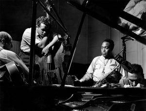 Charlie Parker Quartet Billy Bauer guitarraEddie Safranski bajo Lennie Tristano piano 1949 | Rialta