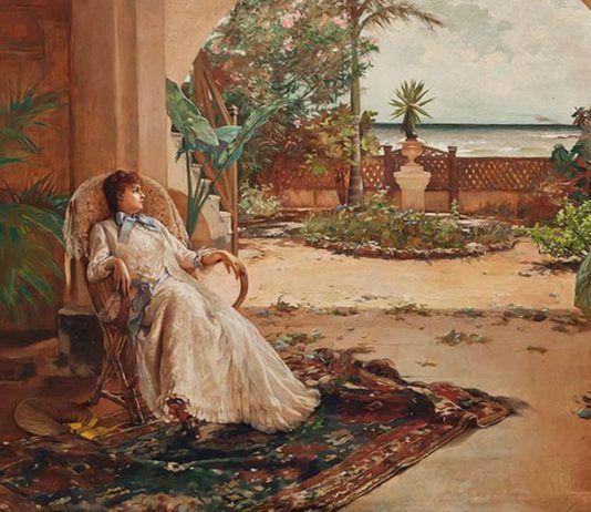 La siesta Guillermo Collazo 1888   Rialta