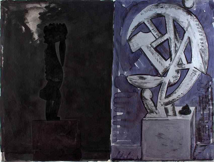 La Escultura que cagó' Flavio Garciandía 1989 | Rialta