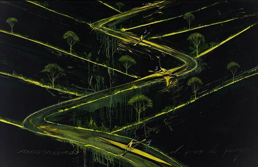 Recorriendo el río de fuego' José Bedia 2006 | Rialta