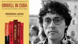 Frédérick Lavoie junto a la cubierta de la edición en inglés de su libro | Rialta