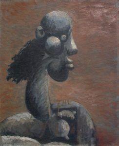 Mujer' 1945 óleo sobre madera 58x47 cm Colección Cernuda Arte Gallery Miami | Rialta