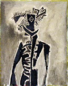 6. Figura africana 1947 gouache sobre papel | Rialta