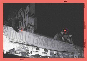 Acción tipográfica ʽLettering' Mauricio Astete Concepción. Remodelación Paicaví FOTO A. Santilli | Rialta
