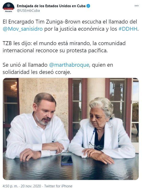 Timothy Zúñiga Brown Encargado de Negocios de la Embajada de EE.UU . en Cuba al MSI | Rialta
