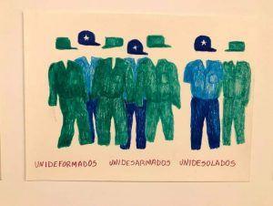 Dibujo de Camila Lobón uno de los expuestos en 'desPARRAGAdos sobre la yerba' | Rialta