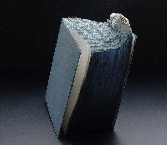 Great Wave Guy Laramée altered book inks. 2012   Rialta