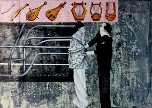 Sin título de la serie ʻUn pingüino en el mercado del arte' Enrique Silvestre 2 | Rialta