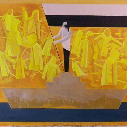 Sin título de la serie ʻUn pingüino en el mercado del arte' Enrique Silvestre | Rialta